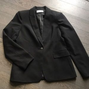 Calvin Klein Stretch Cropped Black Blazer